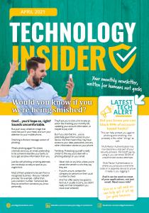 Technology insider april newsletter